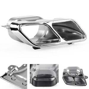 Stainless Steel Exhaust Tail Pipe Muffler Tip Covers For Mercedes Benz A45 W176