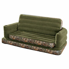 Intex Inflatable RealTree Camo Print Queen Size Pull-Out Sofa Bed | 68566AY