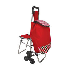 SHOPPING TROLLEY WITH FOLD DOWN SEAT MOBILITY LEISURE AID