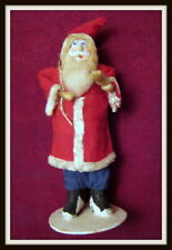 Vintage Cotton Spun Santa, Sack On Back, Made In Japan, Free Gift Included