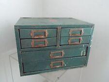 Vintage Metal 6 Drawer Small Parts WARDS Cabinet - Tool Box - Storage Organizer