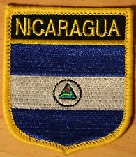 Nicaragua Shield Country Flag Embroidered PATCH Badge P1