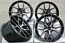 "ALLOY WHEELS 19"" 19 INCH ALLOYS 5X114.3 FITMENT CONCAVE STYLE BLACK POLISHED"
