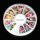 ED 600pcs Wheel Mix Nail Art Tips Glitter Rhinestone Slice Decoration Manicure