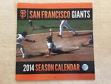 SAN FRANCISCO GIANTS 2014 SEASON CALENDAR FOR PHOTOS ONLY 13 PHOTOS