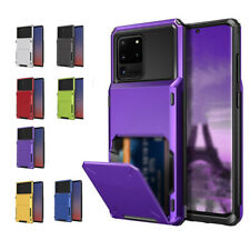 For Galaxy S20 Note20 Wallet Slot Credit Cards Holder Anti-Fall Drop Bumper Case