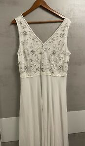 Ivory Embroidered Wedding Dress Size 18