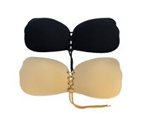 Soutien gorge invisible lingerie 2 couleurs auto-adhésif décolleté confort push