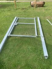 More details for  pedestrian gate / yard / compound / site gates fully galvanised with posts