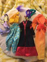 Barbie Disney Clothing Accessries Lot Mulan & Jasmin