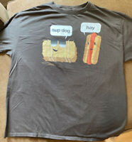 Sup Dog Hay Funny Novelty Men's XL T-shirt Tee Brown Urban Pipeline 100 Cotton
