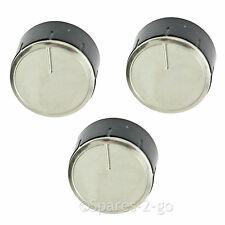 Control Knob Switch Button Dial for BOSCH Cooker Oven Hob Silver Black 3 x Knobs