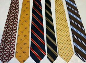 Lot of 6 Brooks Brothers Men's Neckties - Silk - Wool - Vintage - Skinny