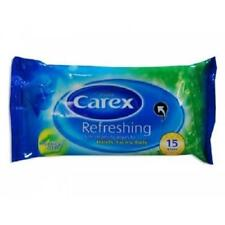 ** 2 X CAREX REFRESHING SOFT CLEANSING WIPES FOR HANDS FACE & BODY 30 WIPES  NEW