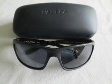 Nautica schwarzen Rahmen Polarisierte Sonnenbrille. n2239s. NEU. mit Koffer.