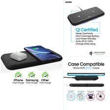 Genuine ZEN Dual Qi Fast Rapid Wireless Smartphones & Devices Charger Pad  Plate