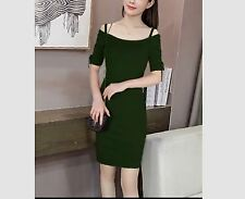 KNITTED DRESS #7259-1 (EC) FreeSize Green