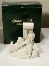 "SNOWBABIES DEPT 56 ""HOW MANY DAYS TILL CHRISTMAS"" WITH BOX EXCELLENT"