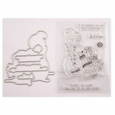 ***CLEAR STAMPS**CUTTING DIES*SNOWMAN*Christmas*Birthday*Cards*Topper