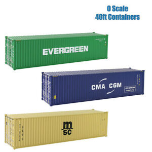 1pc O Scale 40ft Shipping Container Model Railway 1:48 40 Foot Container C4340