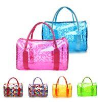 Women Transparent Handbag Shoulder Bag Clear Jelly Purse Clutch PVC Tote US Hot