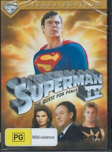 SUPERMAN IV 4 - The Quest For Peace - Deluxe Edition DVD NEW & SEALED Free Post