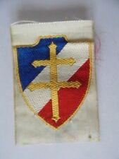 INSIGNE TISSU LIBERATION 1944 FRANCE LIBRE  FFL / RESISTANCE croix de lorraine