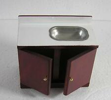 Dolls House  1:12  Furniture Mahogany Sink Unit