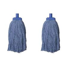 400G Heavy Duty Commercial Mop Head Blue - Pack of 2