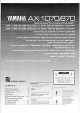 Yamaha  Bedienungsanleitung user manual owners manual  für AX 1070- 870  Copy