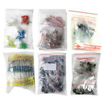 Beginners electronic kit components Assortment LED Diodes Capacitor Resistor