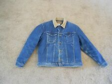 Men's Wrangler Denim Jacket Authentic Western Blanket Lining Corduroy Collar 42