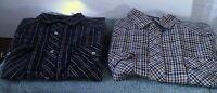 Lot of 2 FALCON BAY Men's sz L Western Pearl Snap  Long Sleeve Shirt 0100734