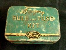 Vintage FORD Emergency BULB & FUSE KIT Metal Car Auto Part No 18407 Model 78 US