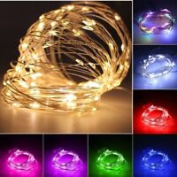 20/30 Led Battery Power Operated Copper Wire Mini Fairy Lights String Xmas Decor