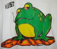 Vintage 70s Chubby Plump Bullfrog Ringer T Shirt White S