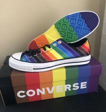 "🌈 Converse Chuck Taylor Low 70 ""Pride""  Rainbow Black Shoes Size Men 10 /W12"