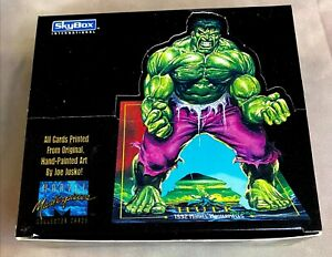 1992 Marvel Mastepieces Skybox Box of 36 Packs Sealed Collector Cards