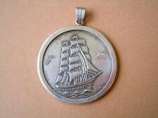 Münz Anhänger aus 835 Silber Segelschiff/Seute Deern 18,1 g / 5,2 x 4,1 cm