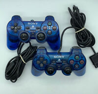Sony Playstation 2 OEM Blue Controller SCPH-10010 PS2 Dualshock 2 Parts Only
