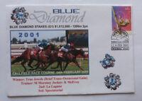 2001 BLUE DIAMOND 'TRUE JEWELS' WIN HORSE RACING SOUVENIR COVER
