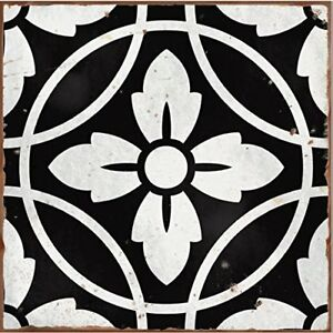 Pack of 10 style 4 Black Victorian Moroccan retro traditional aged style Mosaic