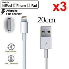 3 Apple iPhone 5 6 7 PLUS SE iPad mini Air Pro iPod lightning data charger cable