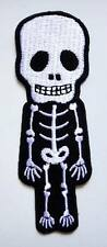 Cute Pretty Skeleton  Embroidered Iron on Patch Free Postage