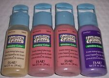 Plaid Craft Gallery Glass Window Color 2 oz Clear, Rose & Amethyst (4 Pack Lot)