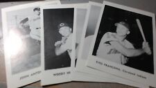 """Set of 12 1960's Jay Publishing 5"""" x 7"""" Cleveland Indians Picture Pack"""