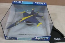 "Armour F18 Hornet Aircraft ""Blue Angels"" Airplane Die-Cast Metal 1:100 Scale NEW"