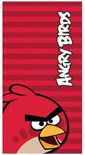 Angry Birds Red Face Stripe Beach | Pool Bath Towel | Birds of a Feather