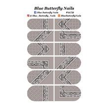 #1172 - Light Grey Paisley Bandana Bandanna Nail Water Decals