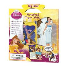 Disney Princess Belle Beauty and the Beast Paper Dolls Storybook - 2 in 1 Book
